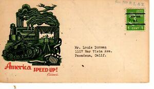 1 cent Presidential Prexy New York precancel Fleetwood cachet 1941 advertisement