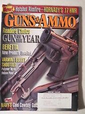Guns & Ammo Magazine. March 2002. Hornady .17 HMR Winchester 94 P Beretta 9mm