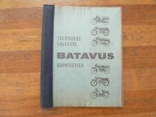 BATAVUS TECHNISCHE GEGEVENS BROMFIETSEN MOPEDS 1957-1964 TOUR,WHIPPET,SUPER SPOR
