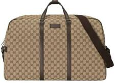 Gucci Duffle Brown Signature Guccissima Large Canvas Leather Travel Luggage NEW
