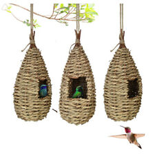 Humming Bird Houses for Outside Hanging Natural Grass Hand Woven Bird Nest Hut