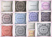 Indian Large Ombre Square Mandala Floor Pillow Meditation Pouf Cushion Cover