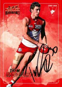 ✺Signed✺ 2020 SYDNEY SWANS AFL Card TOM MCCARTIN