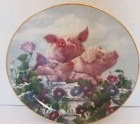 Hamming It Up~Pigs In Bloom~The Danbury Mint Collector's Plate