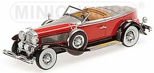 Duesenberg Model J Torpedo Convertible Coupe 1929 rot silber red 1:43 Minichamps