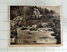 1939 Young Anglers On The Ancient Clapper Bridge Dartmeet Devon