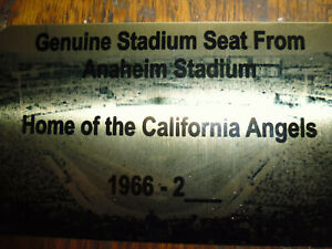 CALIFORNIA ANGELS ANAHEIM   STADIUM  SEAT PLAQUE
