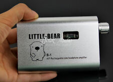 Little Bear B1 Silver Portable Rechargable Tube Headphone Amplifier HiFi Amp