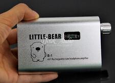 Little Bear B1 Silver Portable Rechargable Tube Headphone Amplifier HiFi Amp