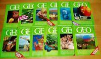 GEO Zeitschrift 1990 komplett neue Bild der Erde Jahrgang 12 Hefte Sammlung