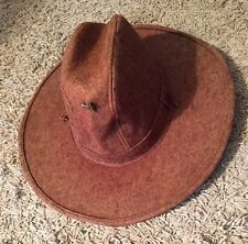 Awesome Vintage Cowboy Hat With Saddle Pin