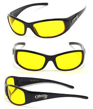 Night Driving Mens Choppers Bikers Sport Motocycle Sunglasses - Yellow C24 Word