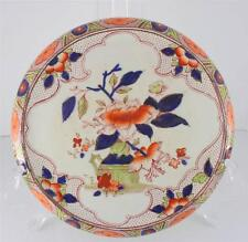 Antique Red Transferware Trivet Hand Painted Imari Pattern Warming Plate