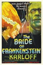 "The Bride of Frankenstein Movie Poster  Replica 13x19"" Photo Print"