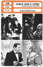 CHARLIE CHAN A L'OPERA Oland,Karloff(Fiche Cinéma)1936 Charlie Chan at the Opera