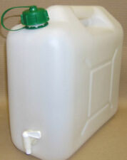 CAMPING CARAVAN TENT WATER CAN CONTAINER WITH TAP 15LTS TOP FILL  BOTTLE  NEW
