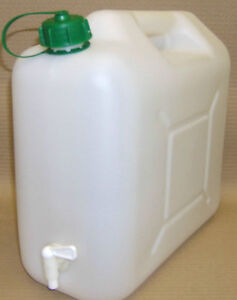 CAMPING CARAVAN TENT WATER CAN CONTAINER WITH TAP 15 LTS TOP FILL  BOTTLE  NEW