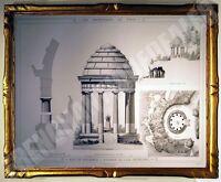 SUPERBE GRAVURE ROTONDE Ile Daumesnil Bois de Vincennes PROMENADES DE PARIS 1882