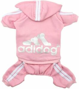 New -Scheppend Original Adidog PINK Jumpsuit for Dog Puppy size - XTRA SMALL
