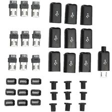 10PCS Micro USB Type B Male Plug Connector Kit with Plastic Cover for DIY HOT