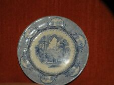 """ANTIQUE JACOB FURNIVAL CASTLE SCENERY STAFFORDSHIRE BLUE AND WHITE PLATE 8 3/4"""""""
