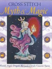 Cross Stitch Myth Magic Wizards Angels Dragons Mermaids Cherubs Unicorn Fairies