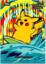 PIKACHU, TOPPS CARD, SERIES 2, YEAR 2000 WITH DOUBLE PRINT, HUGE ERROR