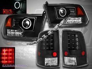 09-12 DODGE RAM 1500 2500 3500 PROJECTOR CCFL HALO HEADLIGHTS & LED TAIL LIGHTS