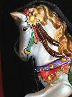 Christmas Ornament Porcelain Horse Hand Painted One Of A Kind Lord & Taylor New