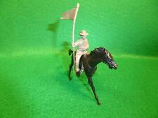 Vintage Marx 45mm Fort Apache Playset Horse w/Rider 1950s