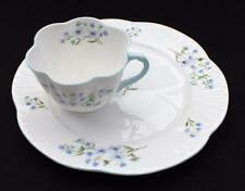 Vtg SHELLEY Bone China England Dainty BLUE ROCK Pattern #13591 Cup Snack Plate