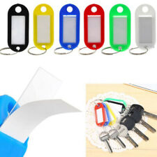 Pack of 50 Assorted Key Fobs Plastic colour Tags Paper Inserts Split Rings TP