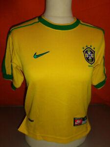 Ancien MAILLOT NIKE Junior sélection CBF Brésil Taille S Jaune et Vert Football
