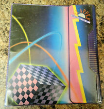 Flapper Binder Vintage 1989 Mead Trapper Keeper Retro 3 Ring 80's Theme Notebook