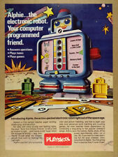 1978 Playskool Alphie The Electronic Robot 'Introducing' vintage print Ad