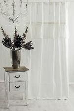 SOFIA OFF WHITE Vorhang Gardine 140x240cm VOLANT Spitze FRANSKE Landhaus Shabby