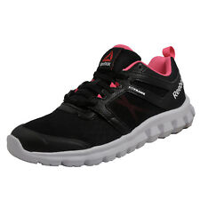 Mujer Zapato de correr Reebok hexaffect fuego/entrenador UK Size 4 Negro/Rosa/Blanco