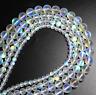 Natural Stone Crystal Bead White Austria Round Loose Beads Moon Bead Jewelry DIY