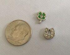 Origami Owl Style love lucky Vegas 4 leaf clover horseshoe poker  Irish card