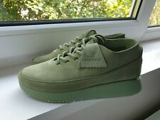 Womens Clarks Originals Green Leather Shoes Size UK4 New