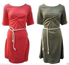 Cotton Blend Summer/Beach Patternless Sundresses for Women