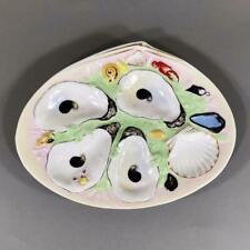 Antique UNION PORCELAIN WORKS Oyster Plate, Brooklyn, New York, 1880's