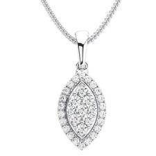 0.40 Carat Round Brilliant Cut Diamonds Pendant in Metal Platinum