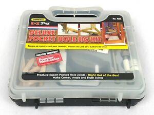 850 Heavy Duty, All-In-One Aluminum Pocket Hole Jig Kit 76 Piece Set w/ Case NEW