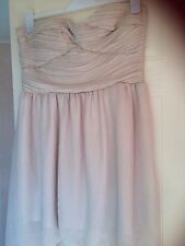 New tag,Rare London,beige lined dress size UK 14,strapless,short front long back