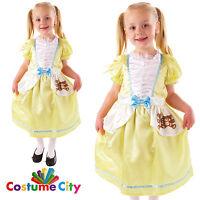 Childs Girls Goldilocks Fairytale Fancy Dress Party World Book Day Costume