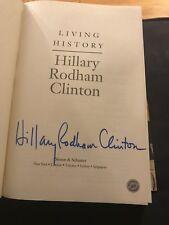Signed Living History by Hillary Rodham Clinton Full Signature Hologram COA