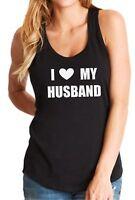 Tank Top I Love My Husband Shirt Valentines Day Gift Anniversary T-Shirt Heart