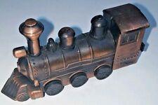 Vintage Die Cast/Copper Railroad Train Engine Pencil Sharpener 3