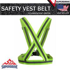 Adjustable Safety Night Running High Visibility Reflective Vest Gear Strap Belt
